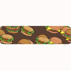 A Fun Cartoon Cheese Burger Tiling Pattern Large Bar Mats by Simbadda