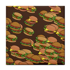 A Fun Cartoon Cheese Burger Tiling Pattern Face Towel by Simbadda