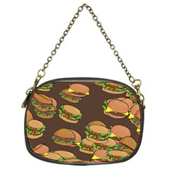 A Fun Cartoon Cheese Burger Tiling Pattern Chain Purses (two Sides)  by Simbadda