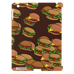 A Fun Cartoon Cheese Burger Tiling Pattern Apple Ipad 3/4 Hardshell Case (compatible With Smart Cover) by Simbadda