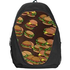 A Fun Cartoon Cheese Burger Tiling Pattern Backpack Bag by Simbadda