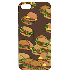 A Fun Cartoon Cheese Burger Tiling Pattern Apple Iphone 5 Hardshell Case With Stand by Simbadda