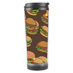 A Fun Cartoon Cheese Burger Tiling Pattern Travel Tumbler by Simbadda