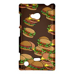 A Fun Cartoon Cheese Burger Tiling Pattern Nokia Lumia 720 by Simbadda