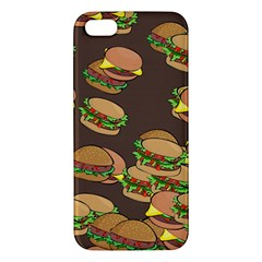 A Fun Cartoon Cheese Burger Tiling Pattern Iphone 5s/ Se Premium Hardshell Case by Simbadda