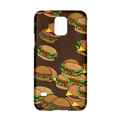 A Fun Cartoon Cheese Burger Tiling Pattern Samsung Galaxy S5 Hardshell Case  by Simbadda