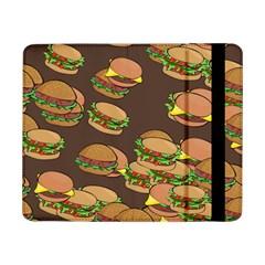 A Fun Cartoon Cheese Burger Tiling Pattern Samsung Galaxy Tab Pro 8 4  Flip Case by Simbadda