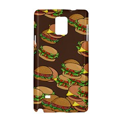 A Fun Cartoon Cheese Burger Tiling Pattern Samsung Galaxy Note 4 Hardshell Case by Simbadda