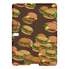 A Fun Cartoon Cheese Burger Tiling Pattern Samsung Galaxy Tab S (10 5 ) Hardshell Case  by Simbadda