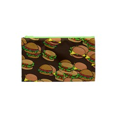 A Fun Cartoon Cheese Burger Tiling Pattern Cosmetic Bag (xs) by Simbadda