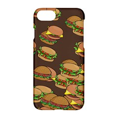 A Fun Cartoon Cheese Burger Tiling Pattern Apple Iphone 7 Hardshell Case by Simbadda
