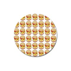 Hamburger Pattern Magnet 3  (round) by Simbadda