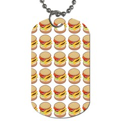 Hamburger Pattern Dog Tag (two Sides) by Simbadda