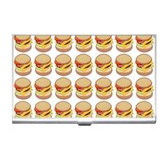Hamburger Pattern Business Card Holders by Simbadda