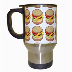 Hamburger Pattern Travel Mugs (white) by Simbadda