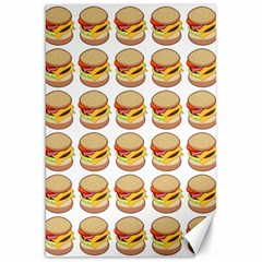 Hamburger Pattern Canvas 20  X 30   by Simbadda