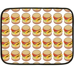 Hamburger Pattern Double Sided Fleece Blanket (mini)  by Simbadda
