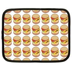 Hamburger Pattern Netbook Case (xxl)  by Simbadda
