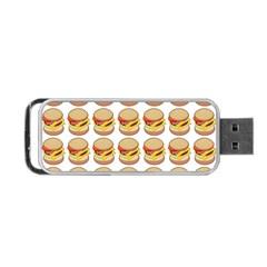 Hamburger Pattern Portable Usb Flash (two Sides)
