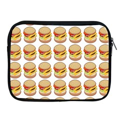Hamburger Pattern Apple Ipad 2/3/4 Zipper Cases by Simbadda