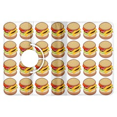 Hamburger Pattern Kindle Fire Hdx Flip 360 Case by Simbadda