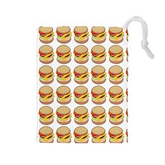 Hamburger Pattern Drawstring Pouches (large)  by Simbadda