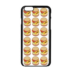 Hamburger Pattern Apple Iphone 6/6s Black Enamel Case by Simbadda