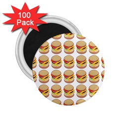 Hamburger Pattern 2 25  Magnets (100 Pack)  by Simbadda