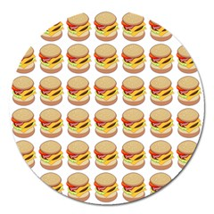 Hamburger Pattern Magnet 5  (round) by Simbadda