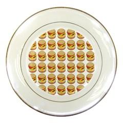 Hamburger Pattern Porcelain Plates by Simbadda