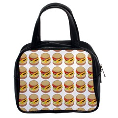 Hamburger Pattern Classic Handbags (2 Sides) by Simbadda