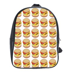 Hamburger Pattern School Bags(large)  by Simbadda