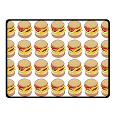Hamburger Pattern Fleece Blanket (small) by Simbadda