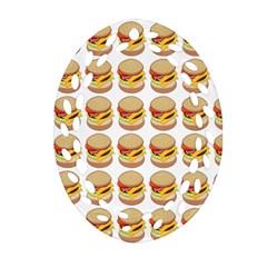 Hamburger Pattern Oval Filigree Ornament (two Sides) by Simbadda