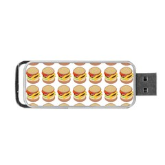 Hamburger Pattern Portable Usb Flash (one Side) by Simbadda