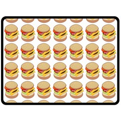 Hamburger Pattern Double Sided Fleece Blanket (large)  by Simbadda