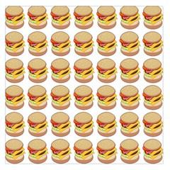 Hamburger Pattern Large Satin Scarf (square) by Simbadda