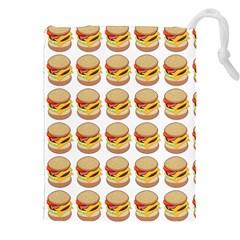 Hamburger Pattern Drawstring Pouches (xxl) by Simbadda