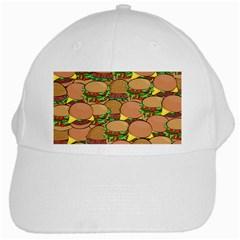 Burger Double Border White Cap by Simbadda