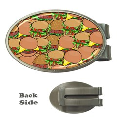 Burger Double Border Money Clips (oval)  by Simbadda