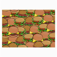 Burger Double Border Large Glasses Cloth by Simbadda