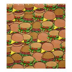 Burger Double Border Shower Curtain 66  X 72  (large)  by Simbadda