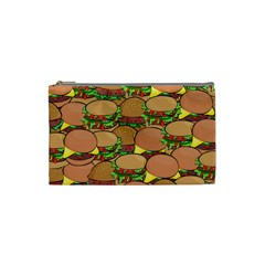 Burger Double Border Cosmetic Bag (small)  by Simbadda