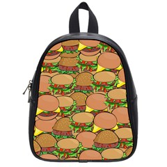 Burger Double Border School Bags (small)  by Simbadda