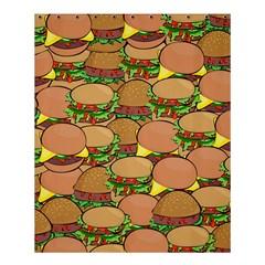 Burger Double Border Shower Curtain 60  X 72  (medium)  by Simbadda
