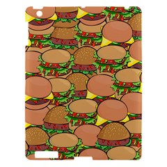 Burger Double Border Apple Ipad 3/4 Hardshell Case by Simbadda
