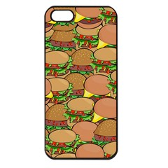 Burger Double Border Apple Iphone 5 Seamless Case (black) by Simbadda