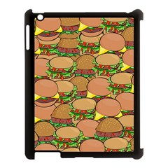 Burger Double Border Apple Ipad 3/4 Case (black) by Simbadda