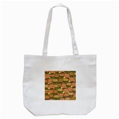 Burger Double Border Tote Bag (white) by Simbadda