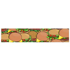 Burger Double Border Flano Scarf (small) by Simbadda
